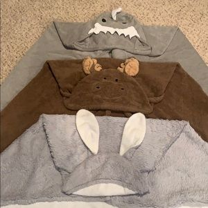 Set of 3 Baby/Toddler Hooded Bath Towels